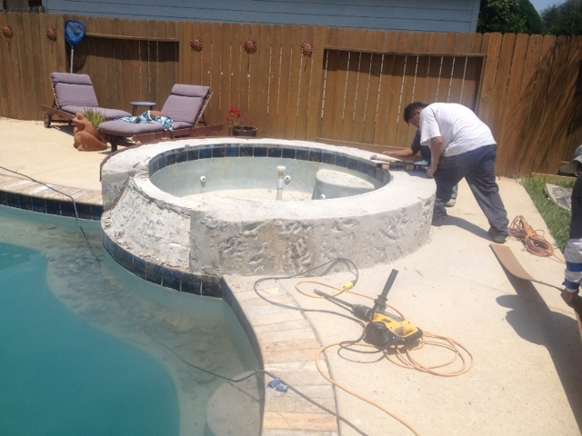 Travertine Tile Pool Entrancing A $6500 Pool Tile And Coping Renovation Remodel With Scabos