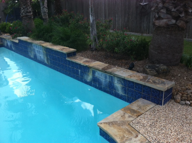 Soda Blasting Cleans Pool Tile Surfaces -